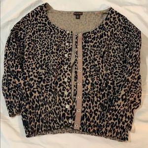 Leopard cardigan!